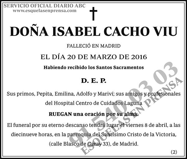 Isabel Cacho Viu